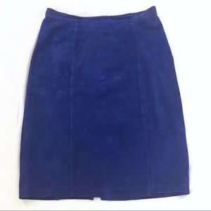 Fox Run vintage royal blue suede skirt size 11